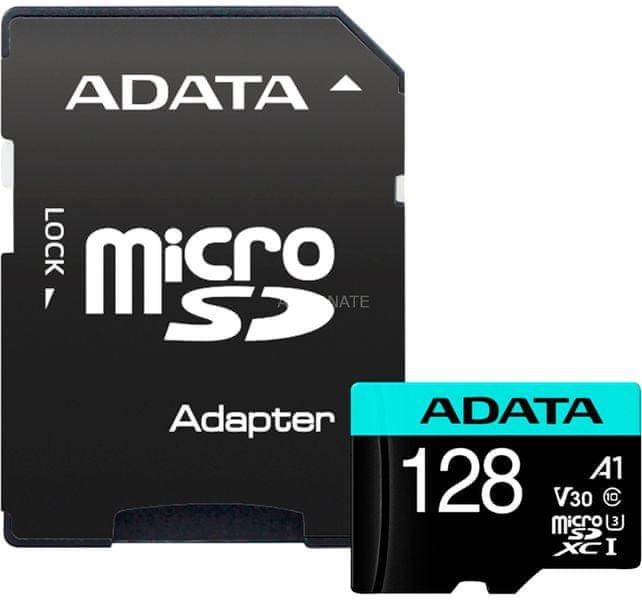 Adata MicroSDXC Premier Pro 128GB + adaptér (AUSDX128GUI3V30SA1-RA1 )