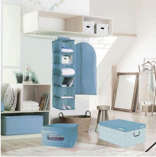 Compactor Nordic skládací úložná krabice - karton, světle modrá