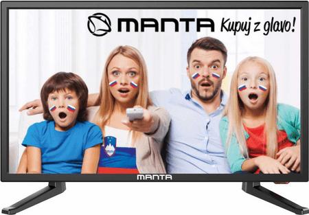Manta LED TV 19LHN38L, 48 cm, črn