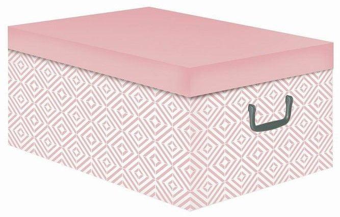 Compactor Nordic skládací úložná krabice - karton, růžová (Antique)