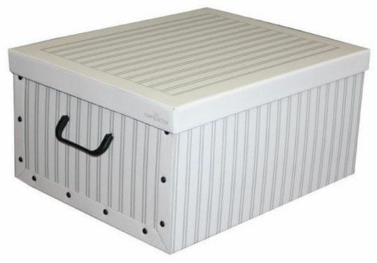 Compactor Anton skládací úložná krabice - karton, bílá/šedá