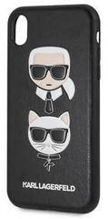 Karl Lagerfeld Karl and Choupette Hard Case Black dla iPhone XR KLHCI61IKICKC