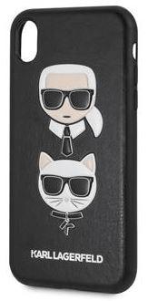 Karl Lagerfeld Karl and Choupette Hard Case Black pro iPhone XR KLHCI61IKICKC