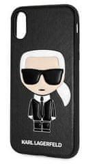 Karl Lagerfeld Ikonik TPU Case Black pro iPhone X / XS KLHCPXIKPUBK