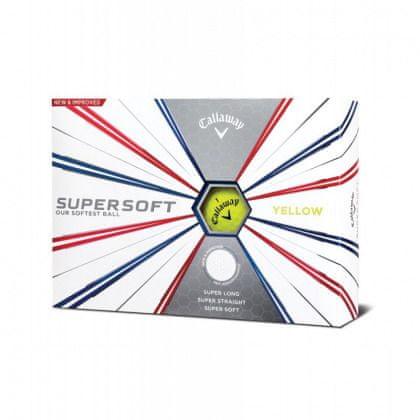 Callaway Supersoft žlutá Golf míčky 12 ks