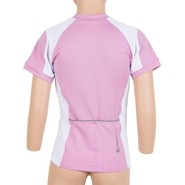 Sensor Entry dětský dres kr.ruk. růžová/bílá - 140