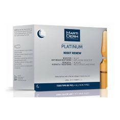 Ampule pro noční péči o pleť s kyselinou hyaluronovou Platinum Night Renew 10 x 2 ml