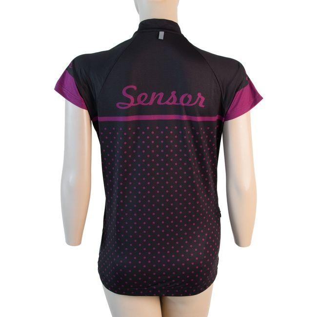 Sensor Dots dámský dres kr.rukáv černá -S