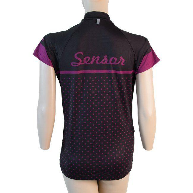 Sensor Dots dámský dres kr.rukáv černá -L