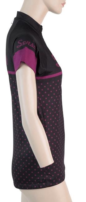 Sensor Dots dámský dres kr.rukáv černá -XL