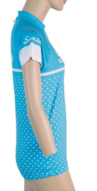 Sensor Dots dámský dres kr.rukáv modrá -S