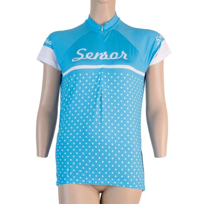 Sensor Dots dámský dres kr.rukáv modrá -M