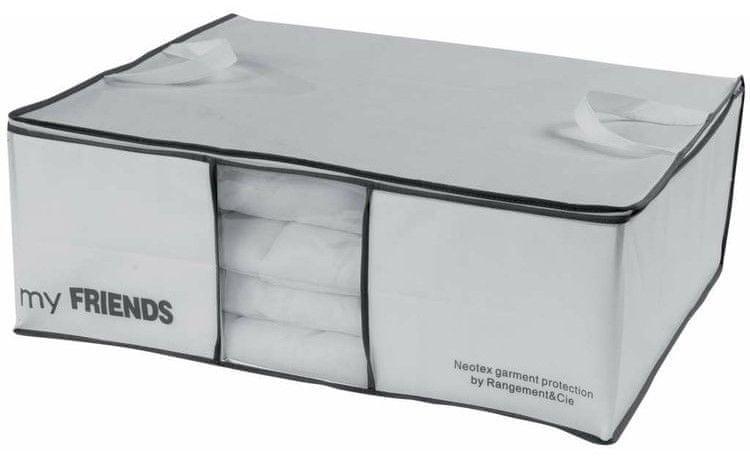 Compactor My Friends úložný box na 2 peřiny, bílý polypropylén