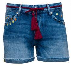Pepe Jeans dámské kraťasy Thrasher Sparks 27 modrá