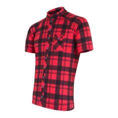 Sensor koszulka rowerowa Square red L