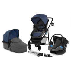 KinderKraft kombinirani otroški voziček JULI 3V1, moder