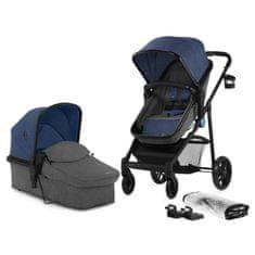 kombinirani otroški voziček JULI 2v1, moder