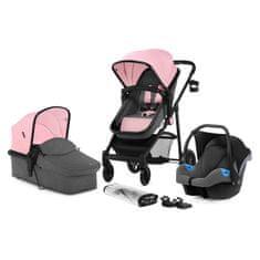 KinderKraft kombinirani otroški voziček JULI 3V1, roza