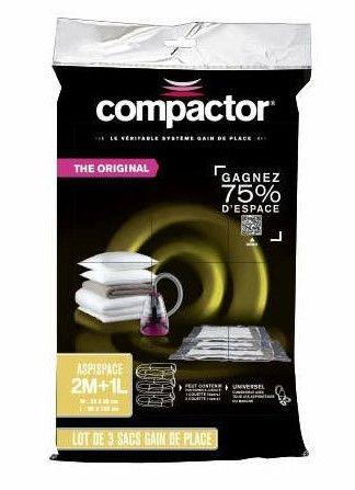 Compactor Bag Aspispace set 3 ks vakuových pytlů pro uskladnění textilu a peřin