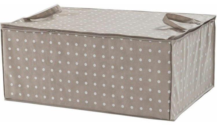 19493e8f4 Compactor Rivoli textilní úložný box na peřinu, hnědý