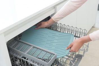 Brabantia Silikonový odkapávač na nádobí, světle modrý