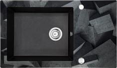 Deante granitno pomivalno korito s steklom Capella ZSC GB1C, grafit siva, brez roba