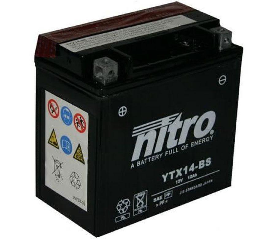 Nitro baterie YTX14-BS-N
