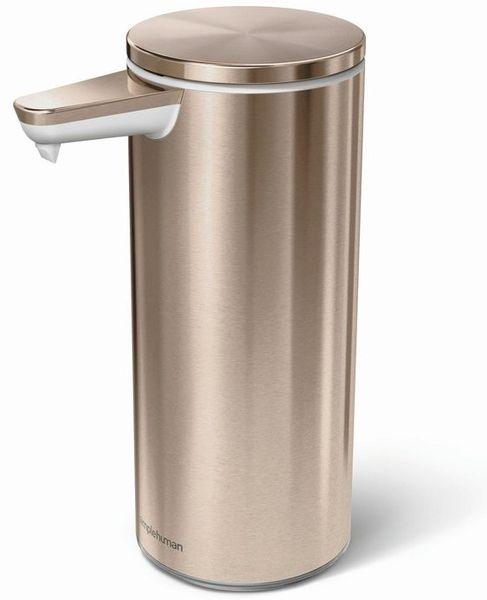 Simplehuman Bezdotykový dávkovač mýdla, rose gold ocel