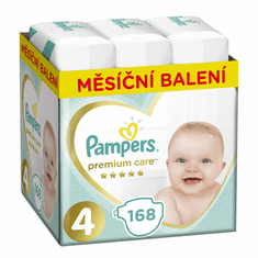 Pampers Pleny Premium Care 4 (Maxi) - 9-14 kg, 168 ks