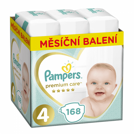 Pampers plenice Premium Care 4 maxi pakiranje (9-14 kg) 168 kosov
