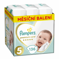 Pampers Pleny Premium Care 5 (Junior) - 11-16 kg, 136 ks