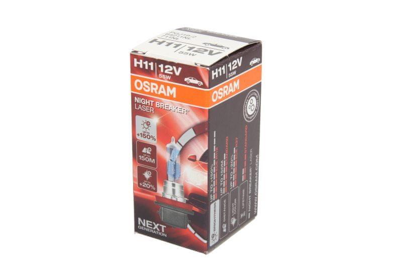 OSRAM 12V H11 55W night breaker laser OS64211NL (1ks)