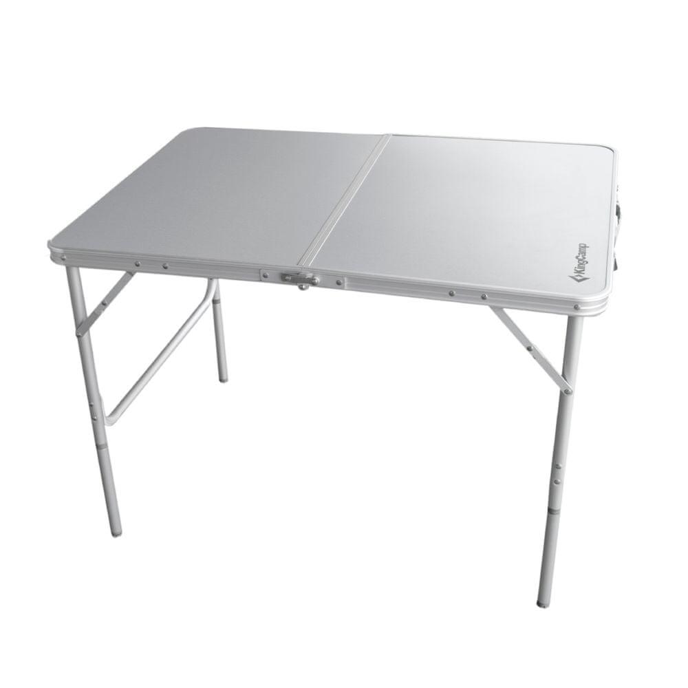 KING CAMP Kempingový stůl Alu 100 x 70 cm