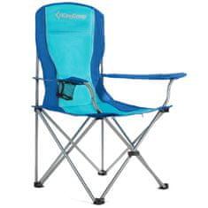 King Camp Kempingová skládací židle s opěrkami ocelová - modrá
