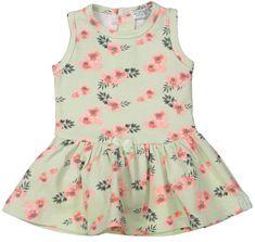 Dirkje dekliška obleka s cvetlicami, 56, večbarvna