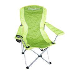 King Camp Kempingová skládací židle s opěrkami ocelová - zelená