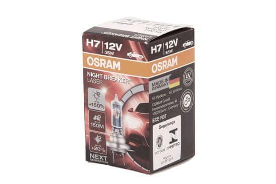 Osram Žárovka typ H7, 12V, 55W, NIGHT BREAKER LASER, Halogenové, krabička, 1ks