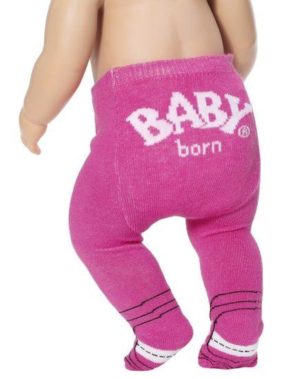 BABY born rajstopy (2 szt.) różowe + szare