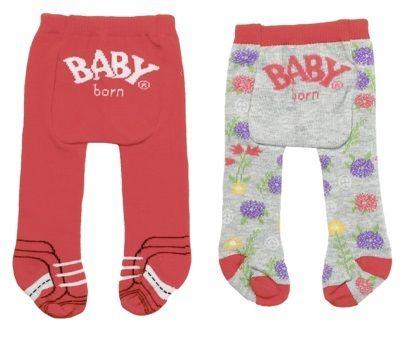 BABY born rajstopy (2 szt.) czerwone + szare