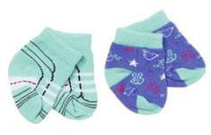 BABY born Ponožky (2 páry) tyrkysové + modré