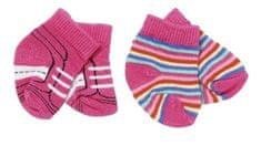 BABY born Ponožky (2 páry) růžové + pruhované
