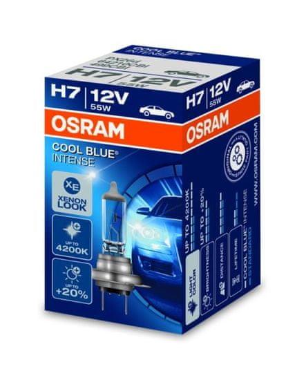 Osram Žárovka typ H7, 12V, 55W, COOL BLUE INTENSE, Halogenové - krabička, 1ks