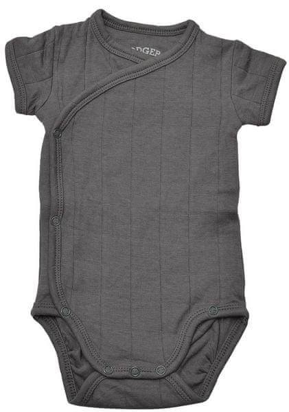 Lodger Romper Fold Over Solid Carbon 74 tmavě šedá