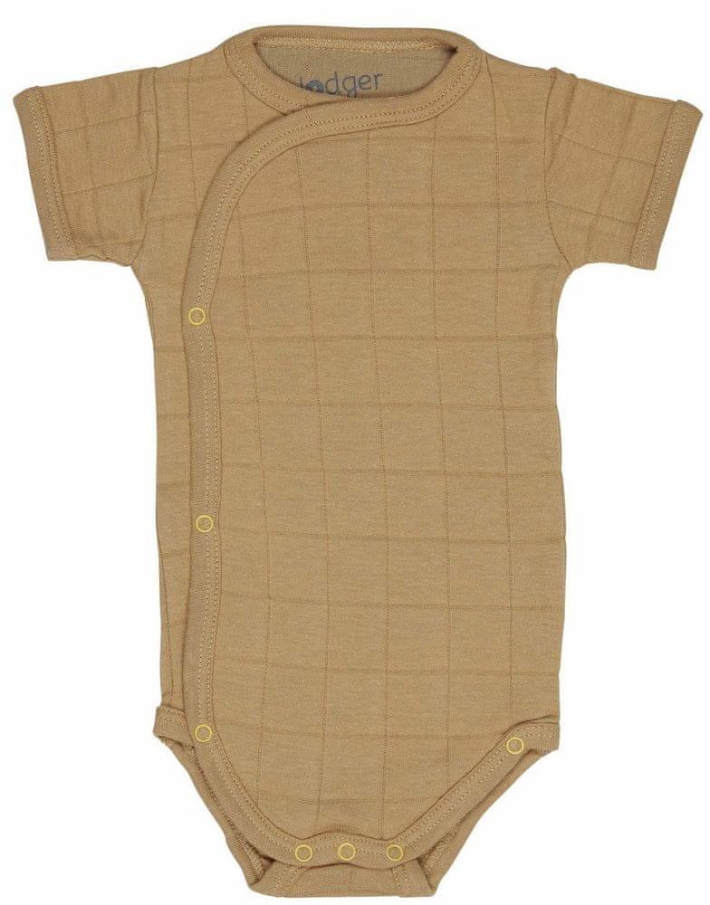 Lodger Romper Fold Over Solid Honey 74 horčicovej