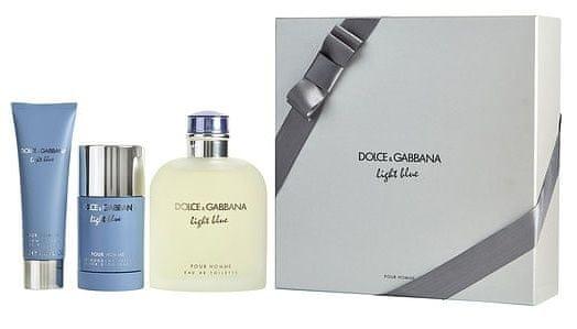 Dolce & Gabbana Light Blue Pour Homme - EDT 200 ml + sprchový gel 50 ml + tuhý deodorant 75 ml
