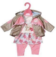Baby Annabell Oblečenie s bundou 43 cm ružové nohavice