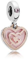 Pandora Ezüst szív medál 787801NBP ezüst 925/1000