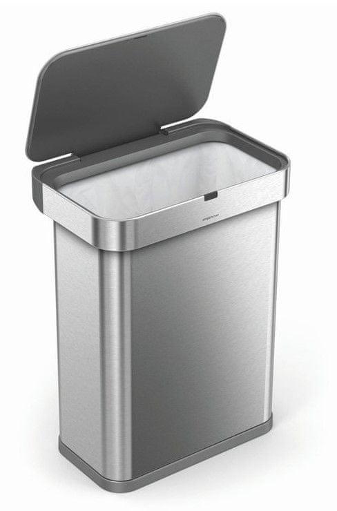 Simplehuman Bezdotykový odpadkový koš s hlasovým a pohybovým sensorem, 58 l