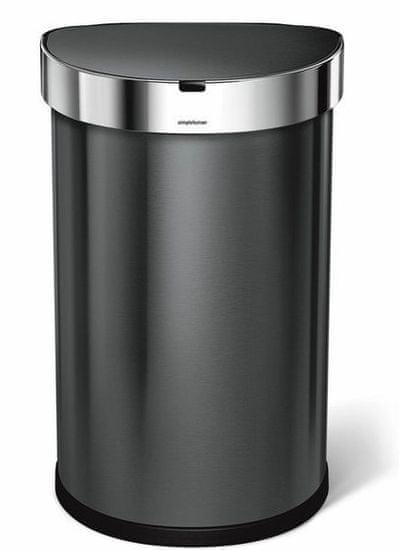 Simplehuman Pojemnik na odpady bezdotykowy 45 l, czarna stal