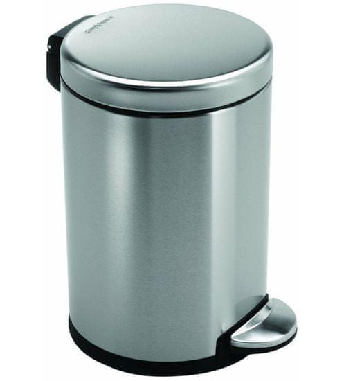 Simplehuman Pedálový odpadkový koš 3 l, matná ocel